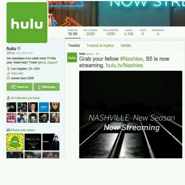 Hulu TV... What's Good!! Thanks for Follow!! Young Gifted...Grrr