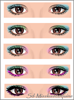 maquillage yeux 4 couleurs