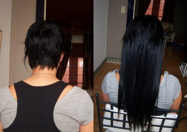 Souvent Une extension de cheveux sur cheveux tres court - Femmes sexy IC38