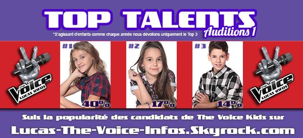 #RESULTATS: Top Talents - Auditions 1