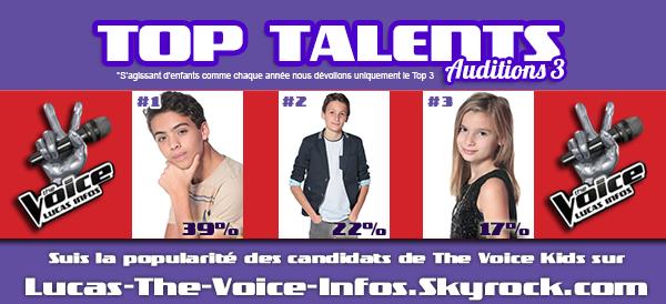 #RESULTATS: Top Talents - Auditions 3