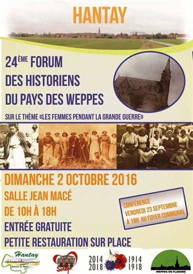 Forum des Weppes � Hantay le 2 octobre : l'affiche officielle � diffuser sans mod�ration.