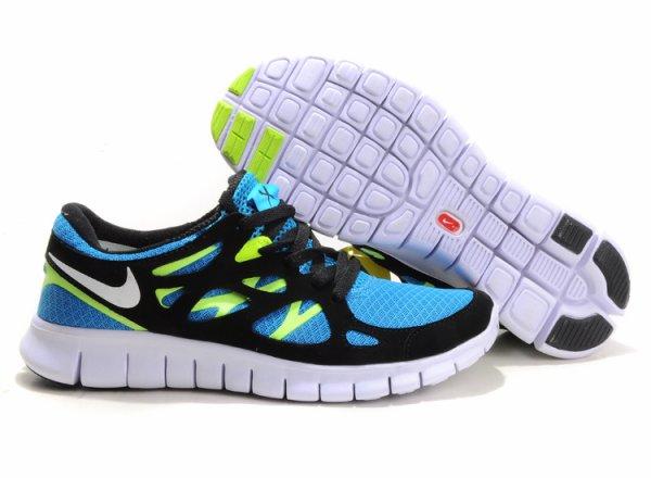 Nike Free Run 2 Shoes,Black/White/Orange/Red/Gray/