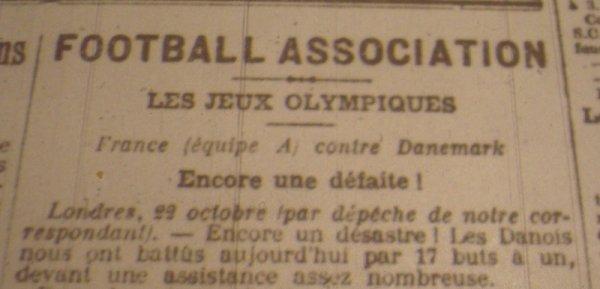 Le jour où la France a perdu 17-1 contre le Danemark