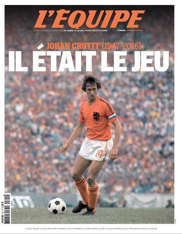 Johan Cruijff : l'hommage