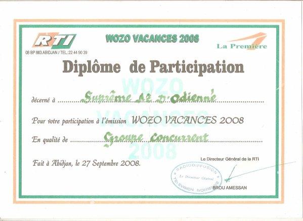 Certificat ou diplome de participation hoyere - Attestation de porte fort a imprimer ...