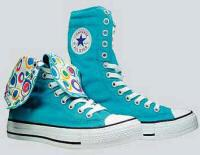 converse bleu turquoise haute