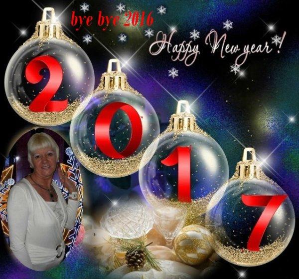 Bye bye 2016... Bonjour 2017 avec impatience... Mes cher (es) Ami (es) je vous souhaite un excellent réveillon entouré de ceux que vous aimez... Soyez prudent (es) si vous devez prendre la route, tout le monde doit être là demain...
