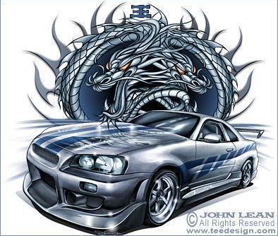Dessin Nissan Skyline De 2 Fast 2 Furious