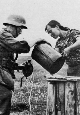 Gourde Allemande WW2.