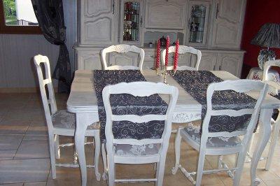 Les belles r alisations de christine un atelier dans l for Relooker des chaises en paille