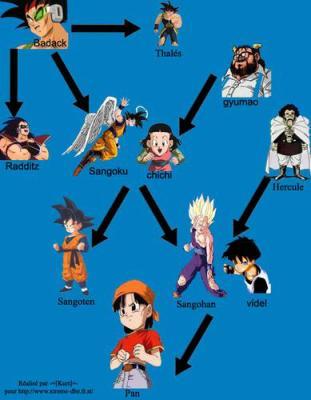 Petit arbre g n alogique de la famille de sangoku dragon ball z - Petit sangoku ...