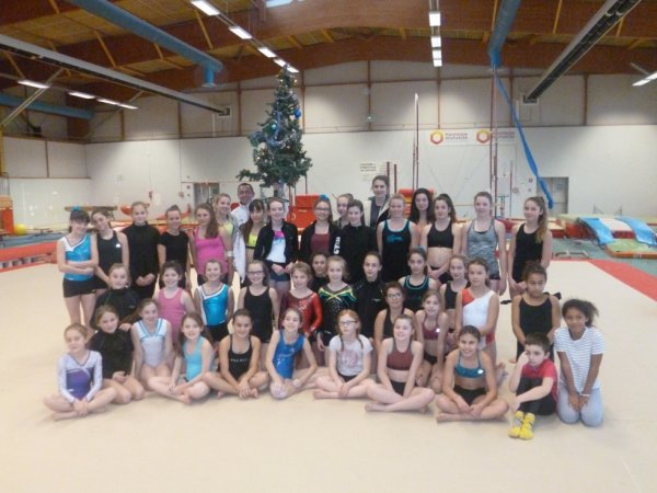 Le centre régional féminin en stage de 4 jours avec La Quimpéroise gymnastique