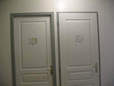 Le couloir notre petit bonheur notre maison extraco for Peinture porte couloir