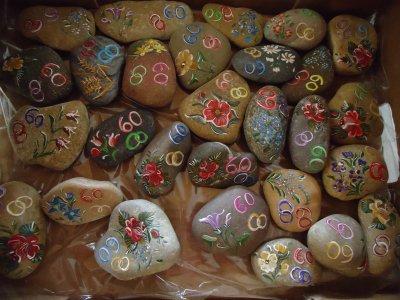 Galets d coration de table pour 60ans de mariage for Deco avec des galets