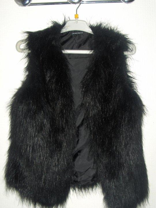 Gilet en fausse fourrure noir taille 34 36 acheter au 3 suisse neuf skyblog vente - Gilet fausse fourrure noir ...