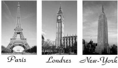 Paris londres new york bulle de couture - Tableau paris londres new york ...