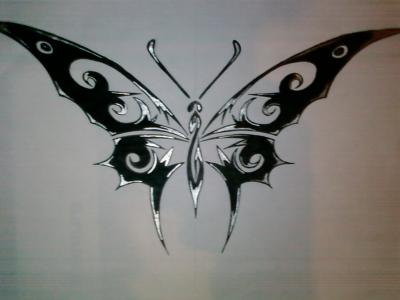 Papillon tribal dessin de polakdu54 - Tribal papillon ...