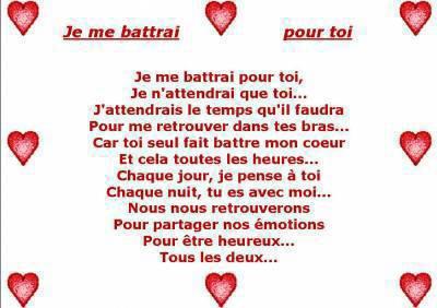 Poeme d 39 amour bonjour a touts qui visite mon skyblog - Lettre saint valentin pour son cheri ...
