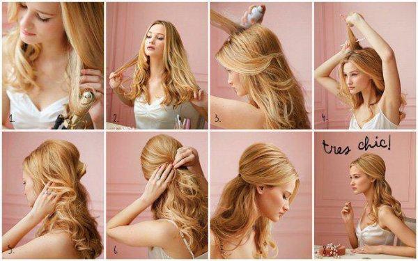 coiffure princesse facile