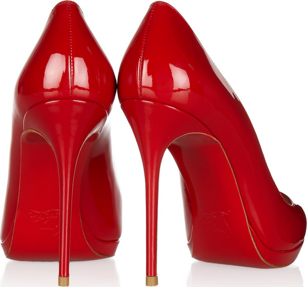 - Christian Louboutin Filo 120 patent-leather pumps $795 -