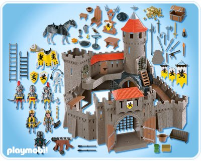 4865 ch teau fort des chevaliers du lion de playmobil for Plan chateau fort playmobil
