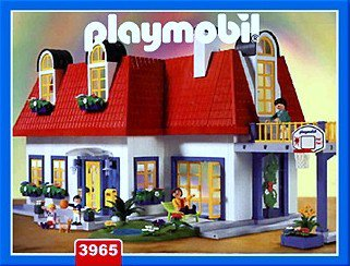 9a special maison amp personnage quot b timents amp for Playmobil modern house 7337