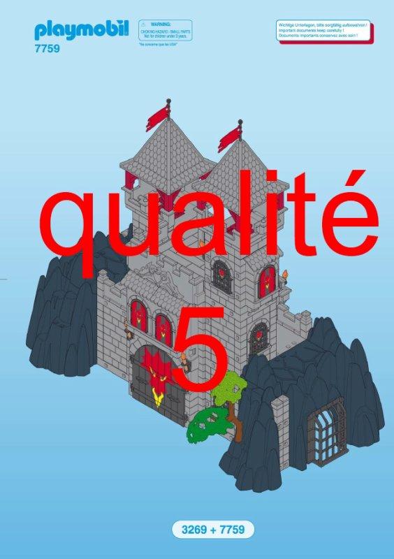 Notice ch teau dragon rouge playmobil for Notice de montage chateau princesse playmobil
