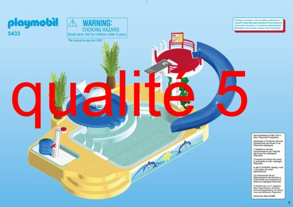 11b sp cial vacance le camping son univers 5433 for Piscine playmobil 5433