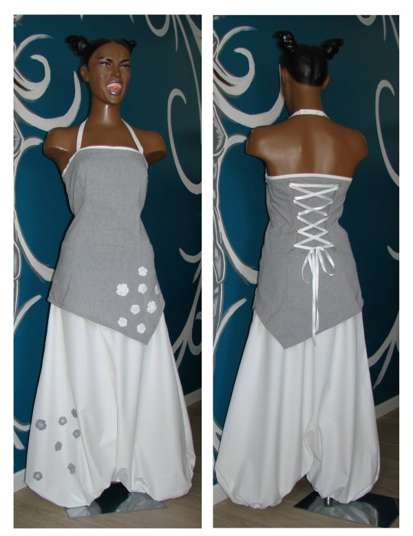 ensemble mariage tunique et sarouel blog de creas de lilou cr atrice l 39 f e. Black Bedroom Furniture Sets. Home Design Ideas