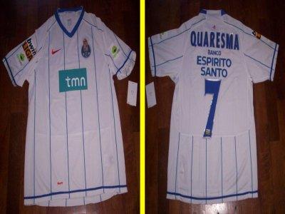 Saison 2007 2008 maillot du fc porto de ricardo quaresma for Exterieur quaresma