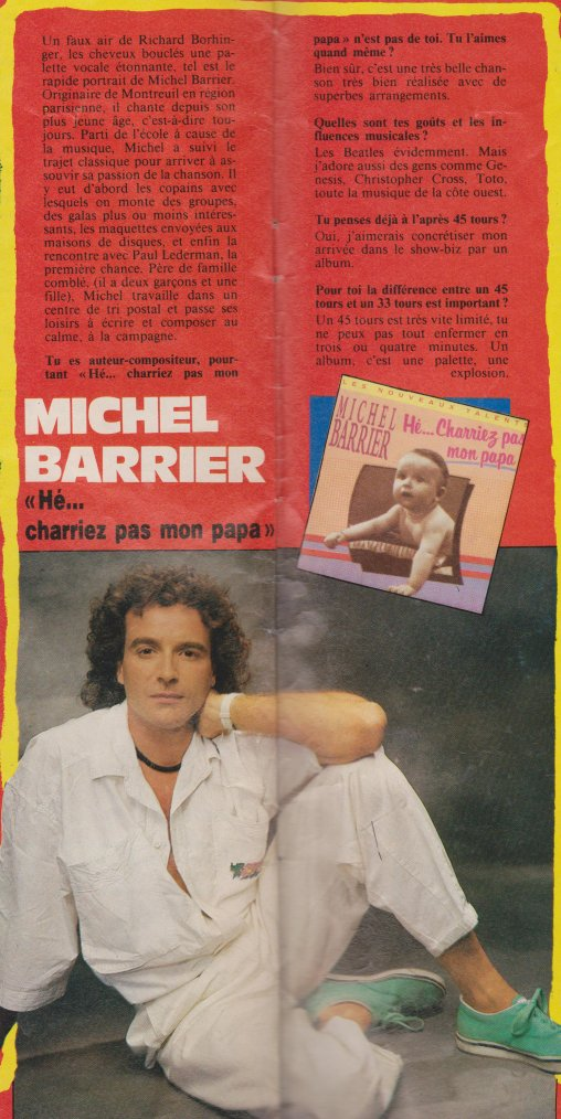 Articles  Interview Michel Barrier - H�... Charriez pas mon papa! (1989)