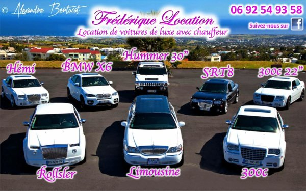 frederique location mariage ile de la reunion limousine hummer 300c bmw x6 location. Black Bedroom Furniture Sets. Home Design Ideas