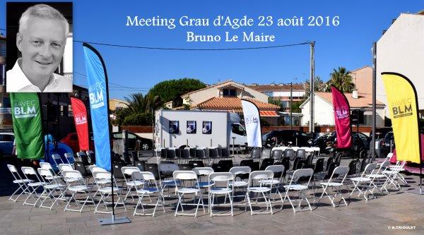 MEETING BRUNO LE MAIRE AU GRAU D'AGDE H�RAULT / 23 AO�T 2016