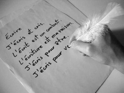 poème sur l'écriture
