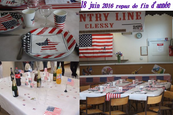 repas fin d'ann�e COUNTRY LINE CLESSY � suivre