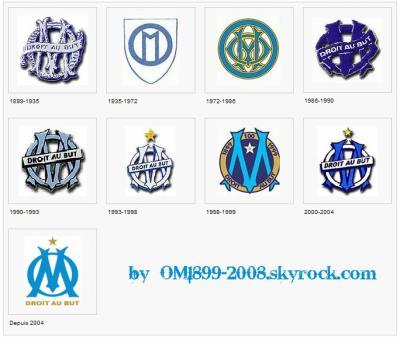 Historique du logo om 1899 2008 - Logo de l olympique de marseille ...
