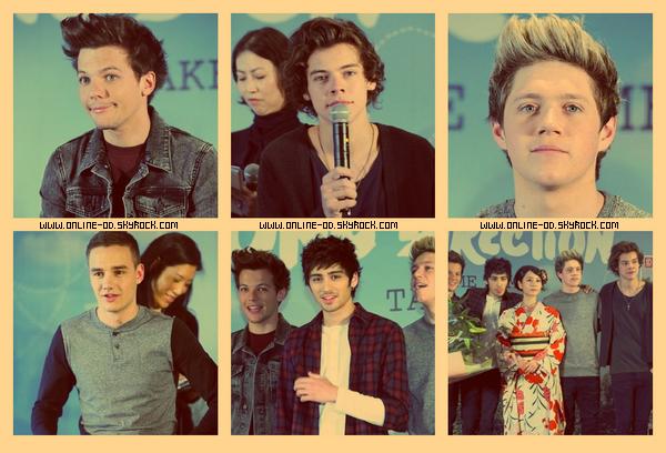 18/01: Les One Direction à une conférence de presse à Tokyo.