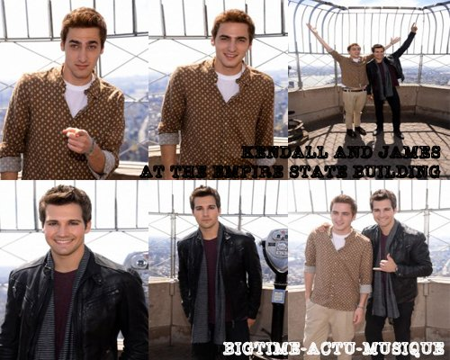 Kendal and James at The Empire state building 18/04 and Logan with Jim Jordan 17/04