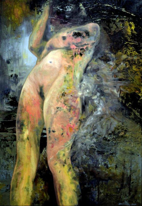 Suite de la visite de l'exposition du peintre Molineris, � la villa Tamaris Pacha