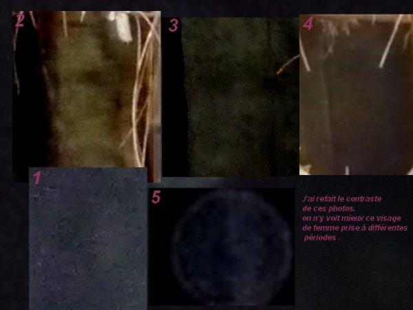Fantôme ou imaginaire ou bien réelle, regroupement de différentes photos prises à différentes périodes, le contraste a été retravaillé.
