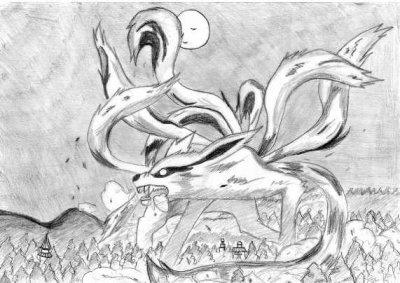 Le demon a 9 queue de naruto en dessin que jai fai my lyfe - Naruto kyubi dessin ...