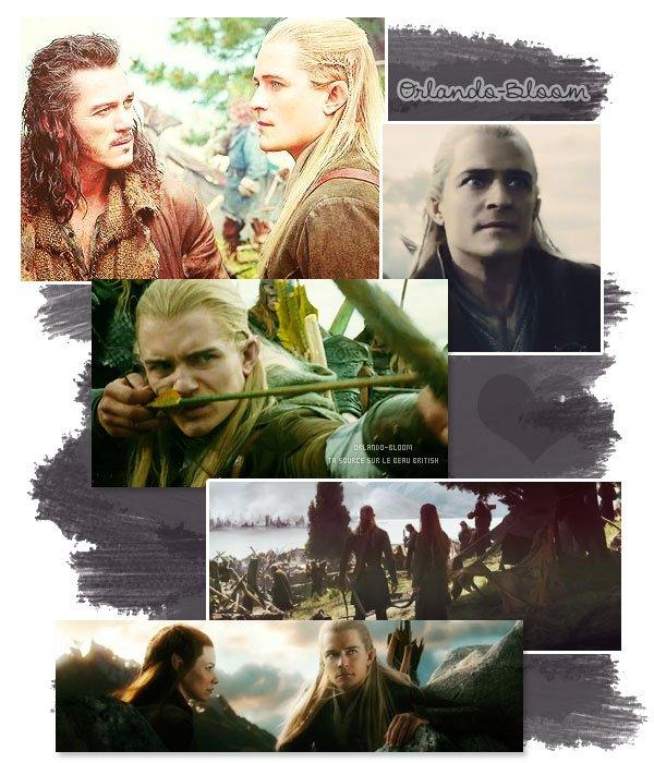 """Orlando incarnant pour la derni�re fois Legolas dans """"Le Hobbit : La Bataille des Cinq Arm�es"""""""