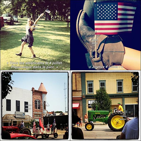 04/07/2012�- Ashley f�tait�l'ind�pendance des Etats-Unis dans l'Iowa puis elle a post�e plusieurs photos sur son compte twitter.