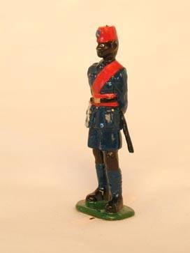 Policier de Léopoldville Congo Belge en grande tenue 1955
