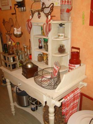 Cuisine esprit campagne decoration brocante patine de meuble broderie - Deco campagne esprit brocante ...
