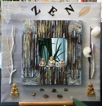 40 x 40 miroir zen tableau bouddha 40x50 tableau zen 50x50 for Miroir 50x50