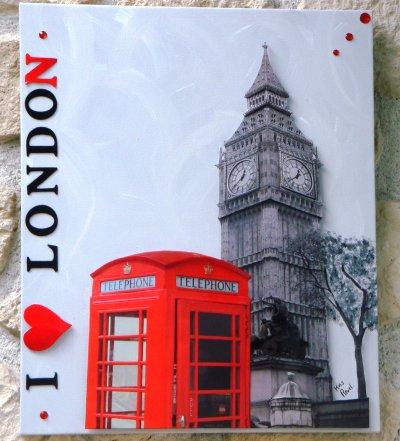 50x60 tableau londres 3d 40x40 miroir london flag vendus for Miroir 50x60