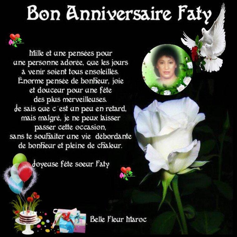 Bon Anniversaire Faty