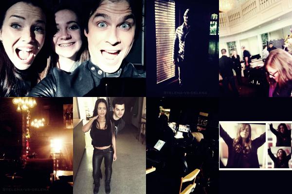 ⁂Cast TVD॥Voici des photos que les acteurs ont postés surTwitter et Instagram c'estdernières24 heures .